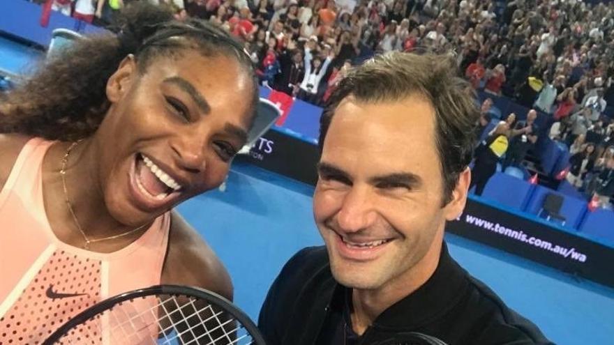 Federer se impone a Serena Williams en la Copa Hopman