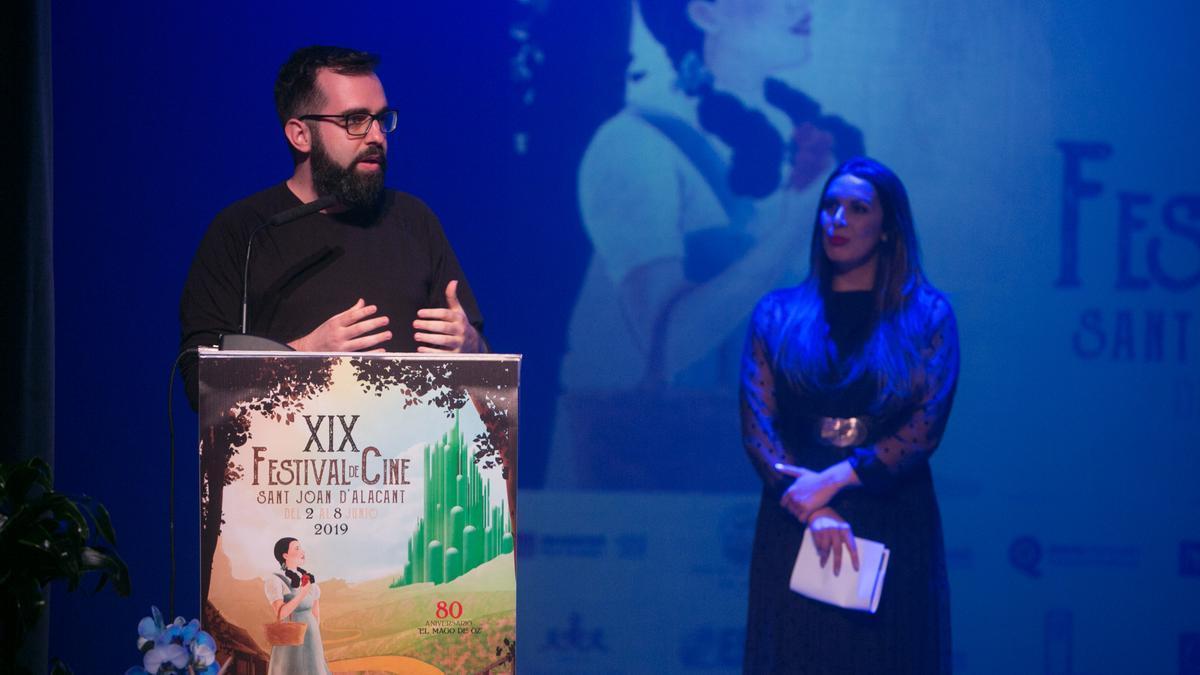 El director del festival de Cine de Sant Joan, Toni Cristóbal, en una edición anterior