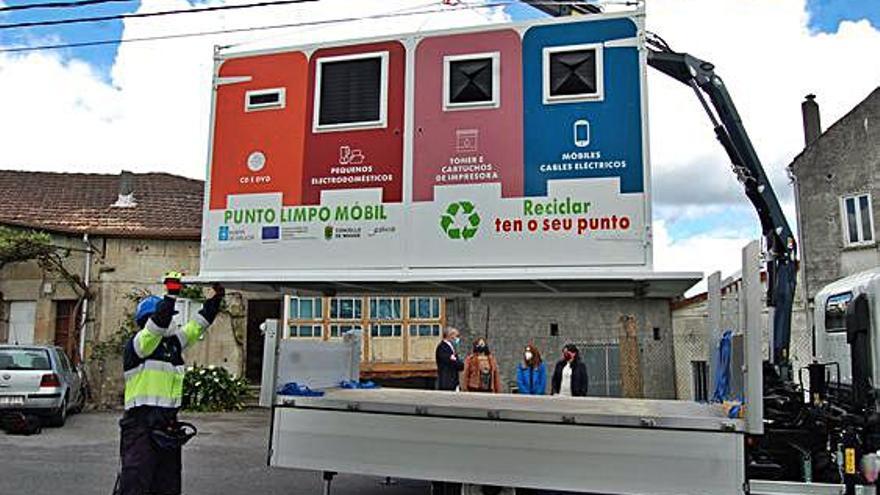 Maside pone en marcha su servicio de punto limpio móvil que aparcará en todos los pueblos del municipio
