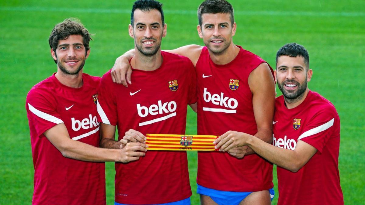 Los cuatro capitanes del Levante UD