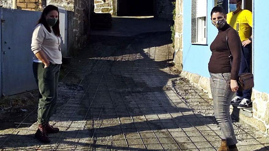 El Concello ejecuta el hormigonado del Camiño dos Quinteiros, en Quintela