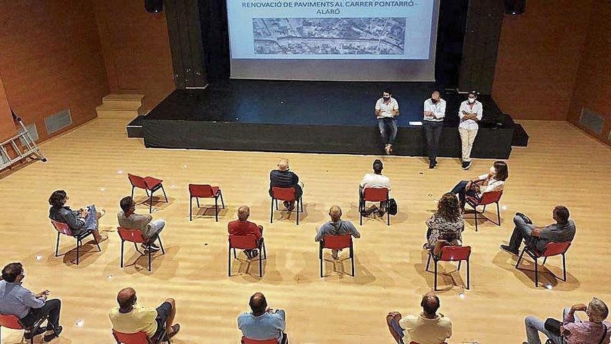 Alaró presenta el proyecto de renovación de las aguas pluviales de la calle Pontarró