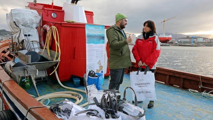 El rastro de la vieira se emplea para retirar basura del lecho marino