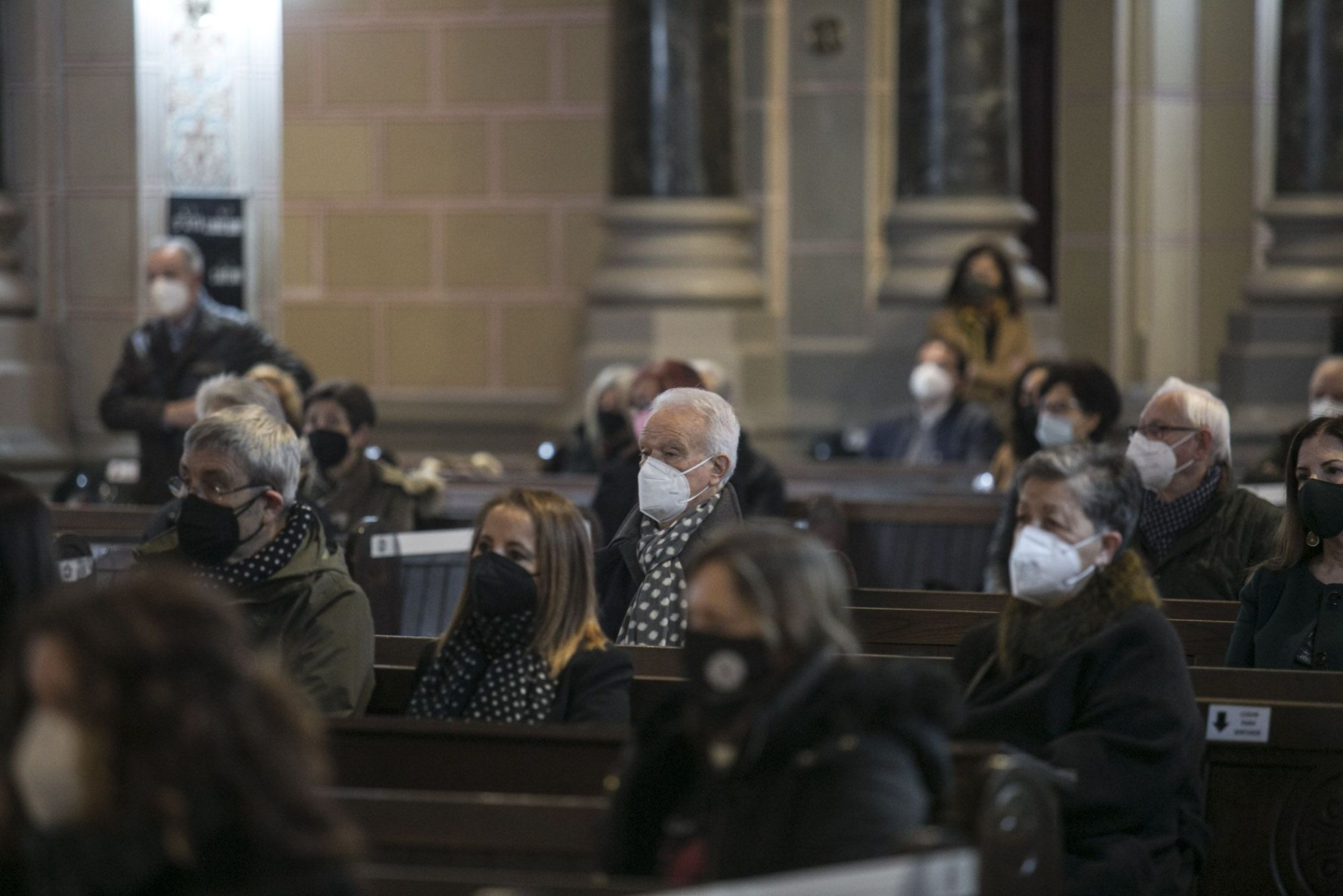Funeral de Conchita Quirós, el emblema de la librería Cervantes de Oviedo