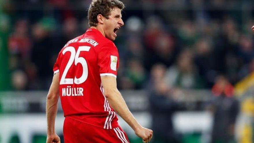 El Bayern en té prou amb un gol  de Müller per ser encara més líder