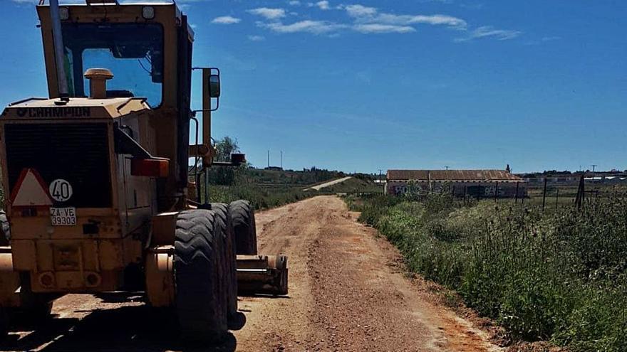 Mejora en caminos rurales en Morales del Vino