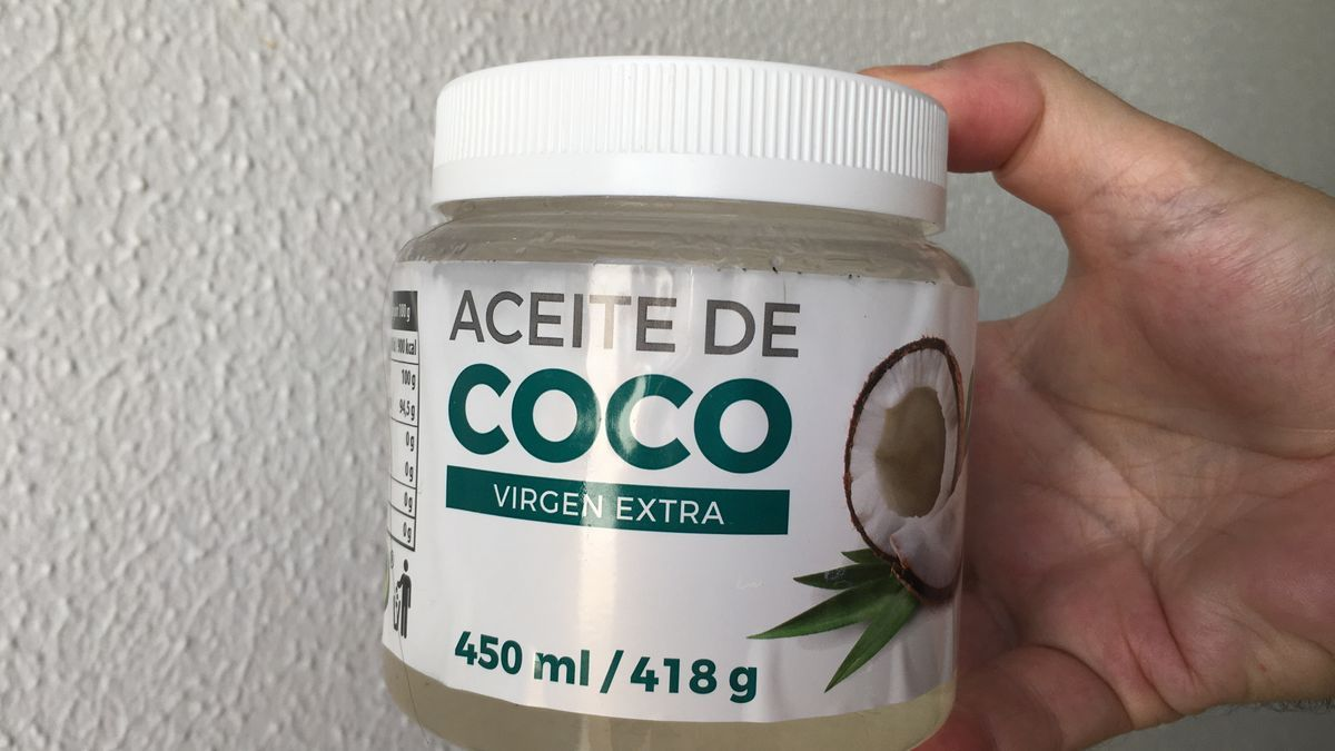 Aceite de coco de Mercadona.