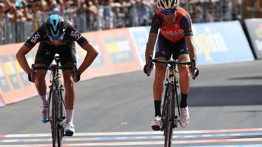 Nibali gana a Landa al esprint