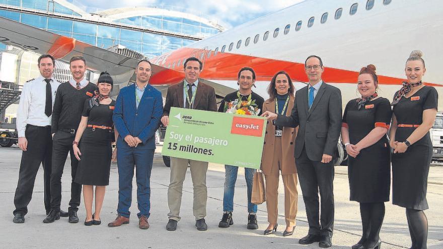Llega el pasajero 15 millones en un vuelo de Londres