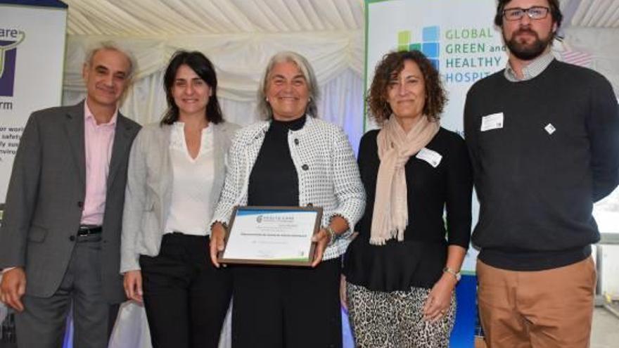 El departamento de salud recibe en Londres el premio por las acciones por el clima