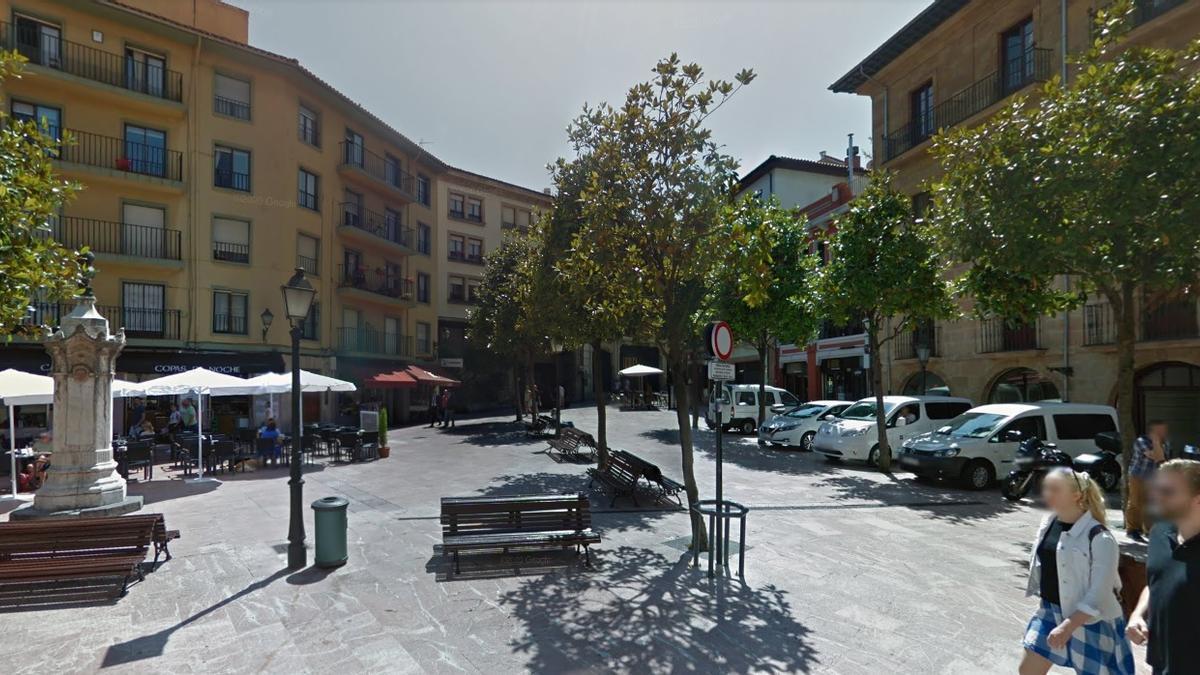 La plaza de Riego de Oviedo.