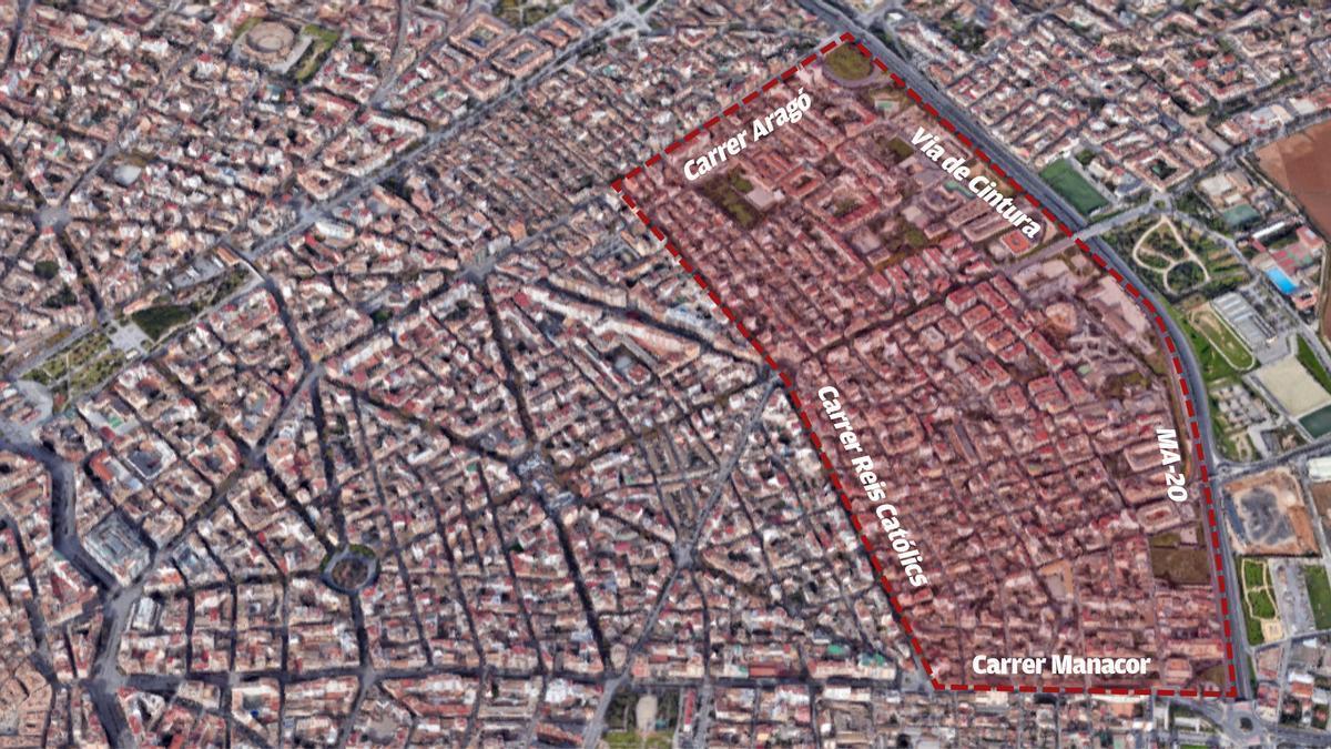 Área de Palma donde se impondrán nuevas restricciones