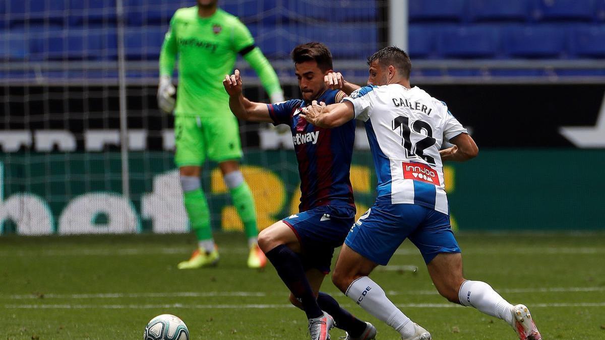 El Levante UD perdió en su último partido ante el RCD Espanyol.