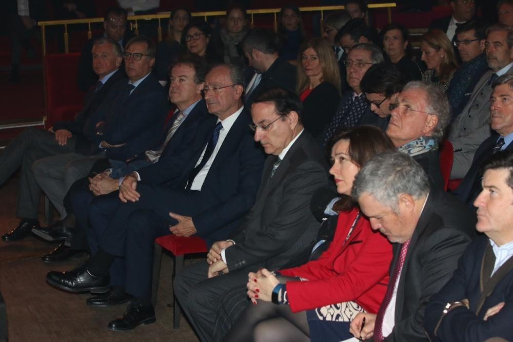 El Florida Retiro de Madrid acogió el acto de presentación de la oferta turística de la capital de la Costa del Sol, que estuvo precedido por un minuto de silencio en recuerdo de Antonio Garrido Moraga.