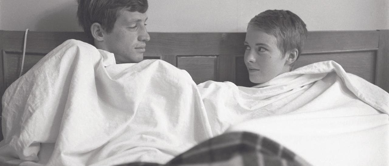 Jean-Paul Belmondo y Jean Seberg.