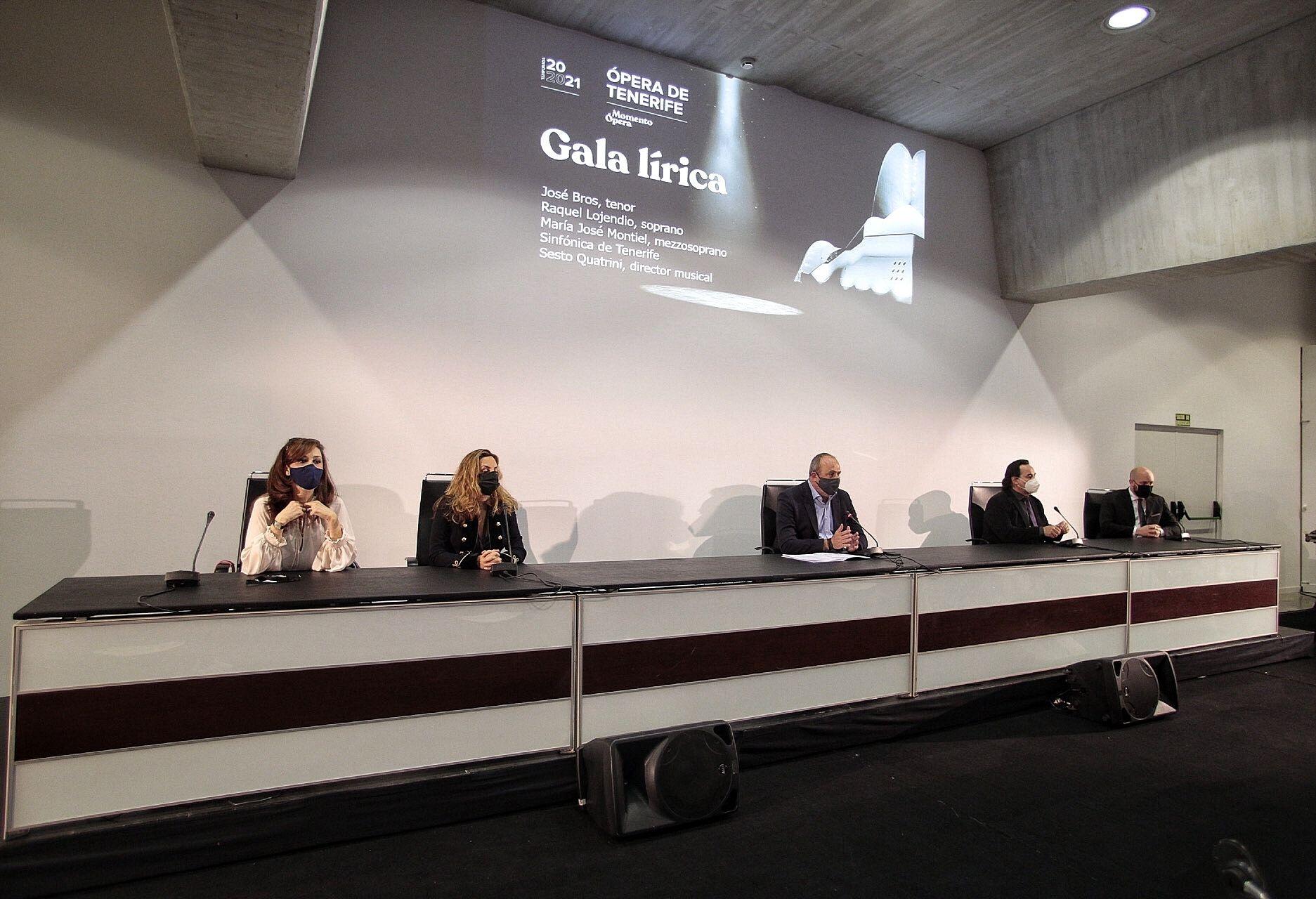 Presentación de 'Gala Lírica' de Ópera de Tenerife