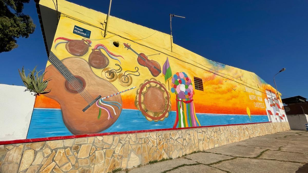 Grafitis y murales en los barrios de Campanillas.