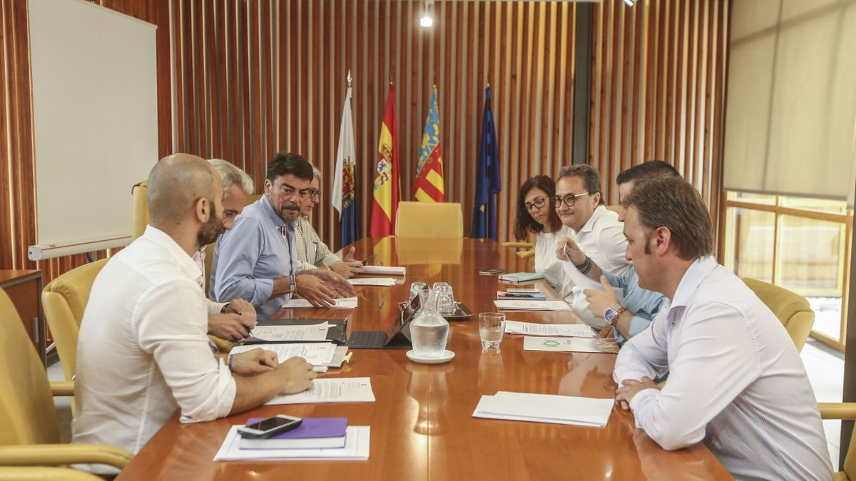 A board of spokespersons from Alicante, in file image