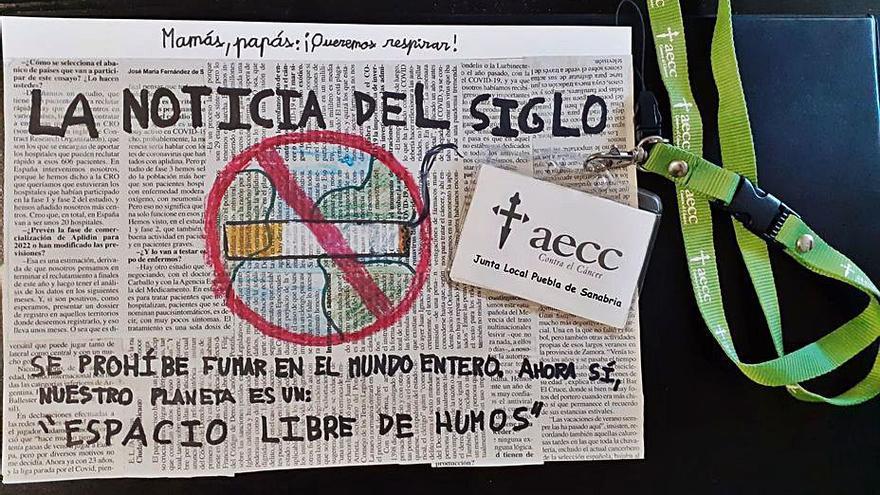 La AECC premia a escolares que han participado en la campaña antitabaco