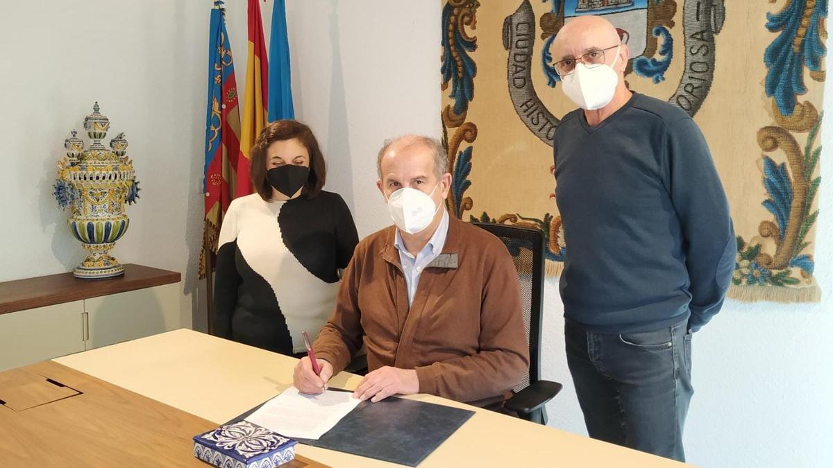 Firma de la candidatura de Manises
