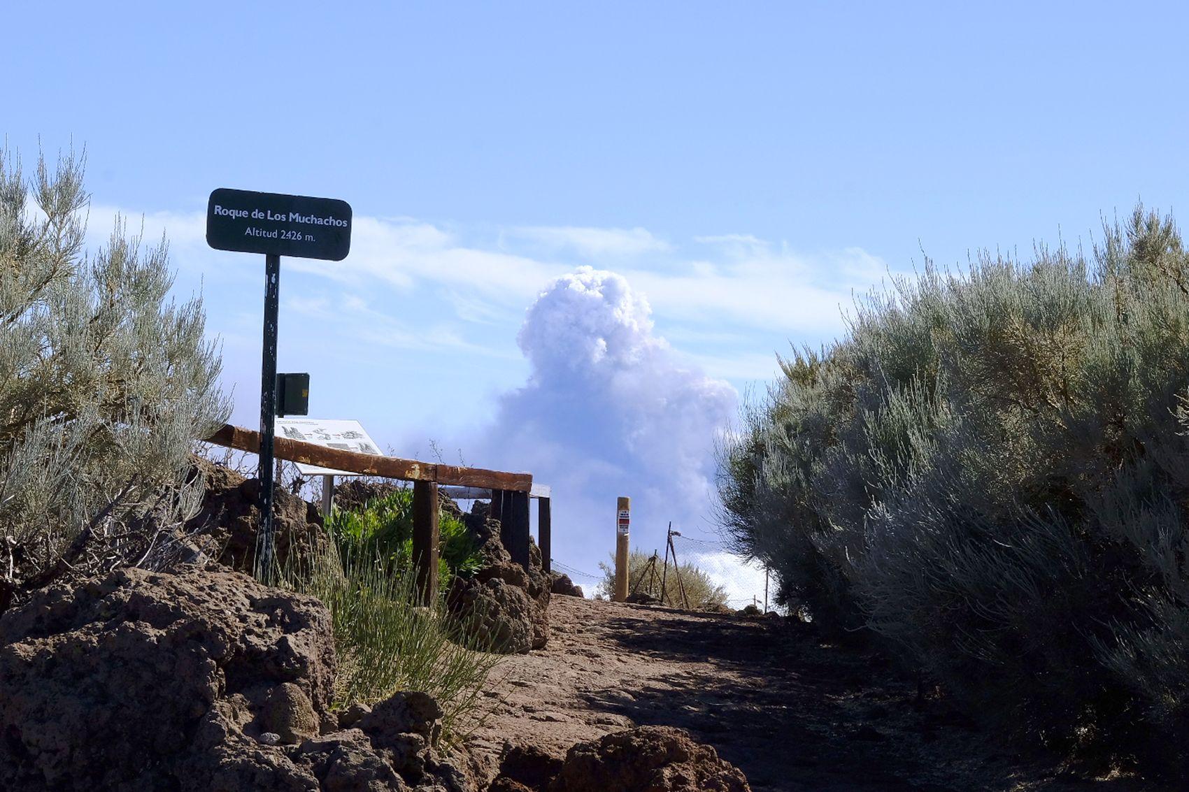 Avance de la colada de lava del volcán de La Palma