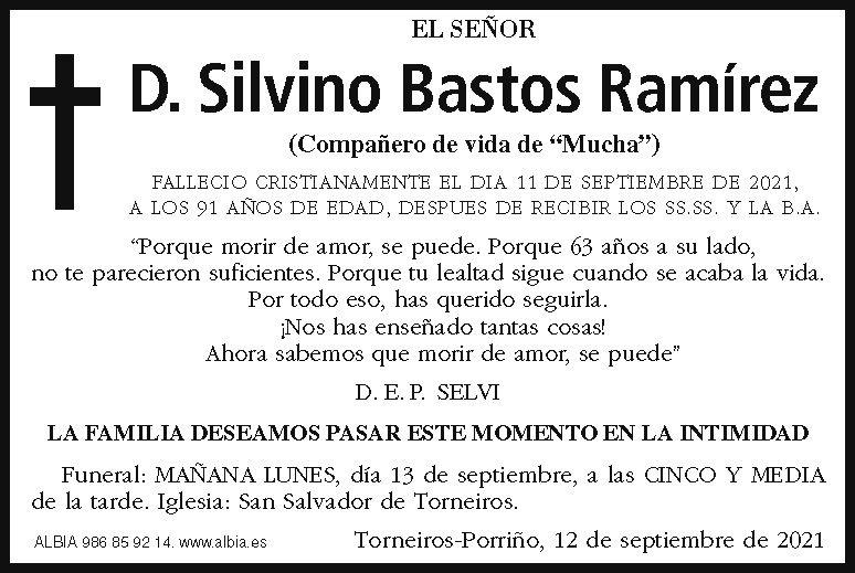 La esquela de Silvino Bastos Ramírez en FARO DE VIGO