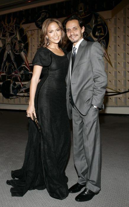 Jennifer Lopez y su esposo Marc Anthony en 2005