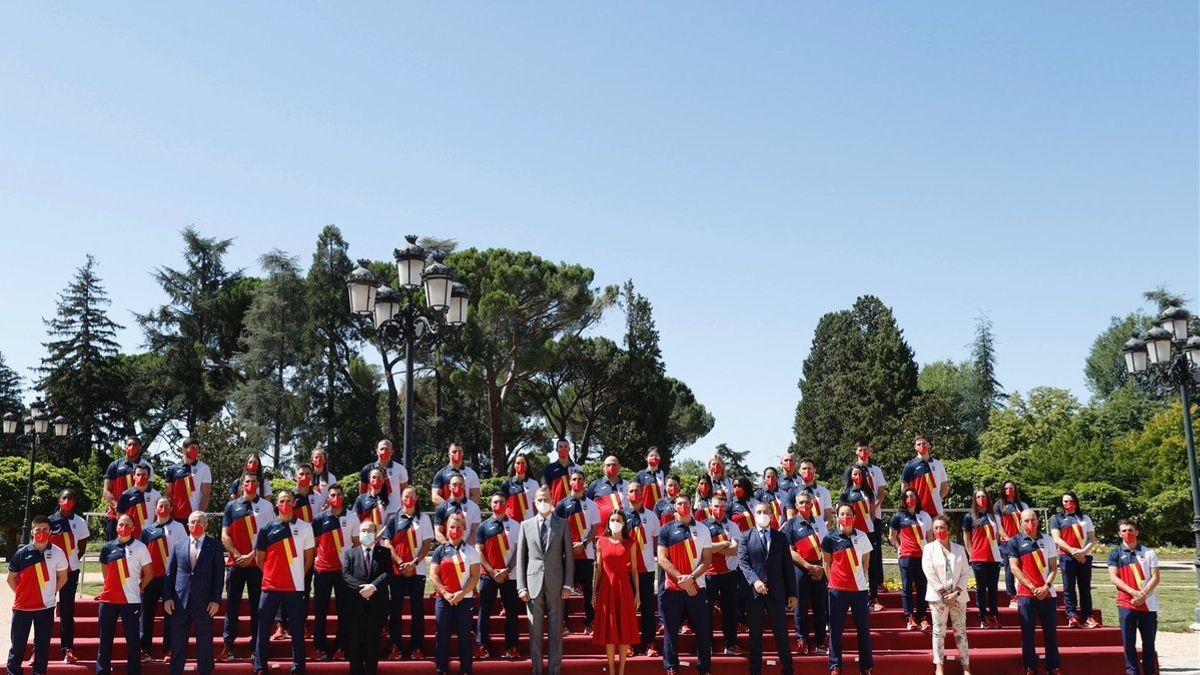 Parte de la delegación española, en Tokio.