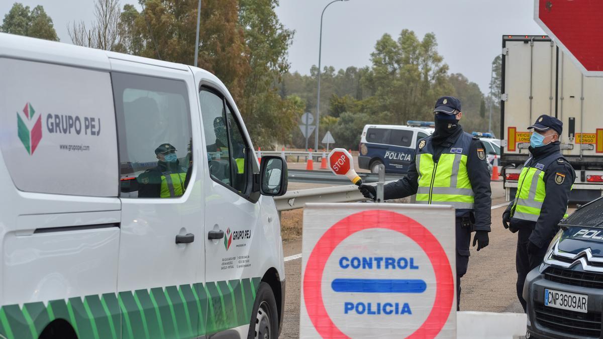 Imagen de un control en la frontera de Caya.
