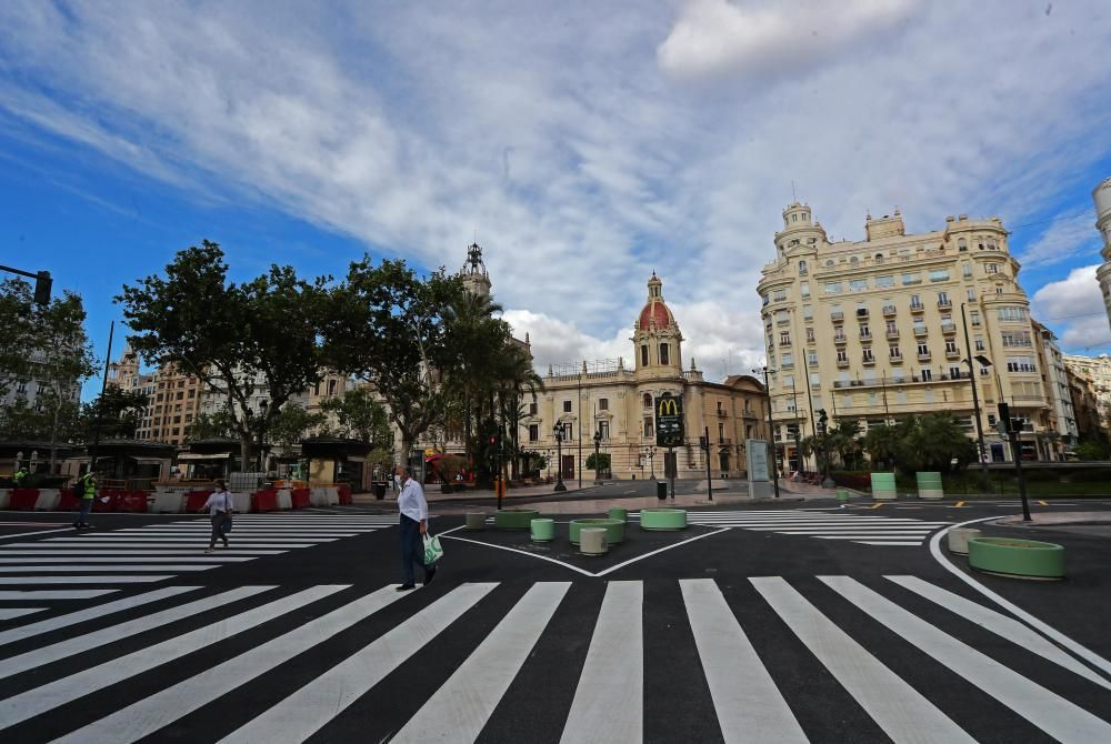 Siguen las obras de la plaza del Ayuntamiento