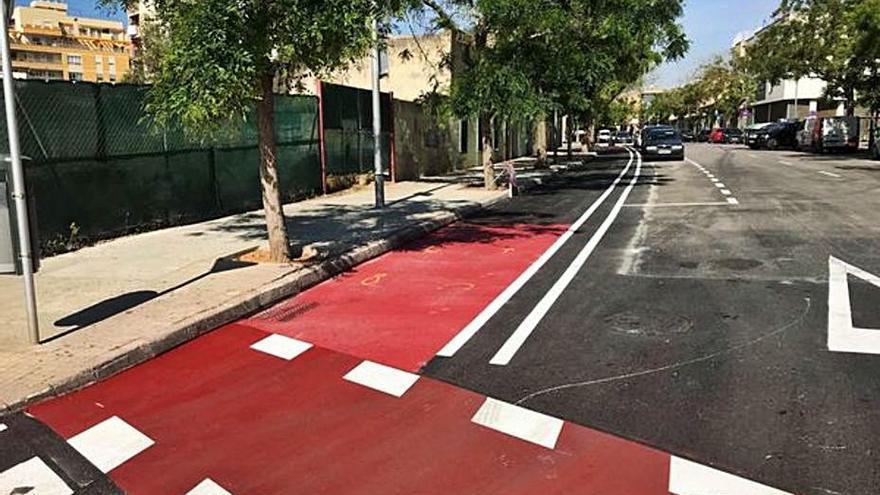 Comienzan las obras del carril bici de Aragó para unir el centro con Marratxí