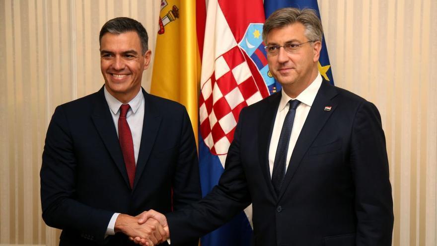 Sánchez se compromete con Croacia a estrechar lazos comerciales y culturales