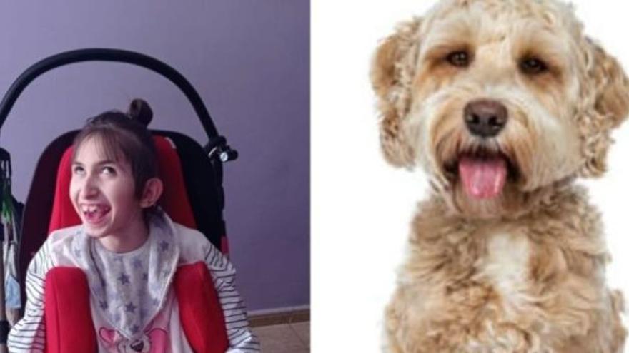 Una vecina de Monzón inicia una campaña para comprar un perro de terapia a una niña