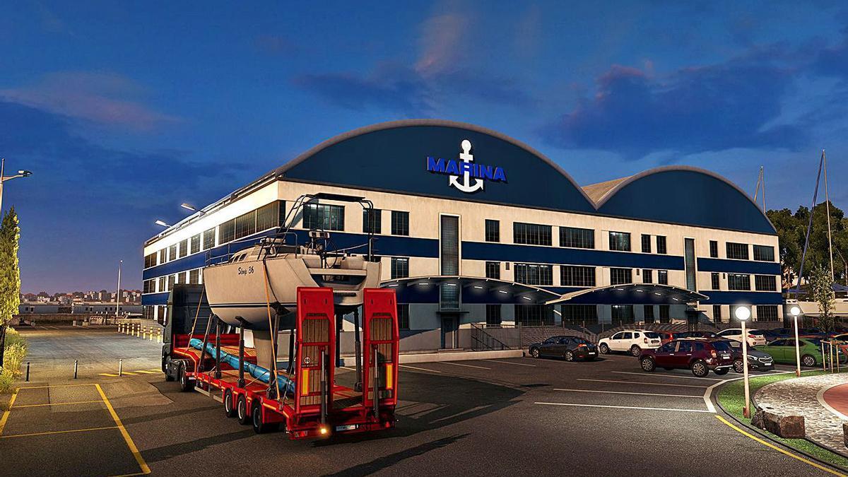 Recreación de las instalaciones de Marina Seca, en Oza.   | // CREATIVE COMMONS POR SCS SOFTWARE