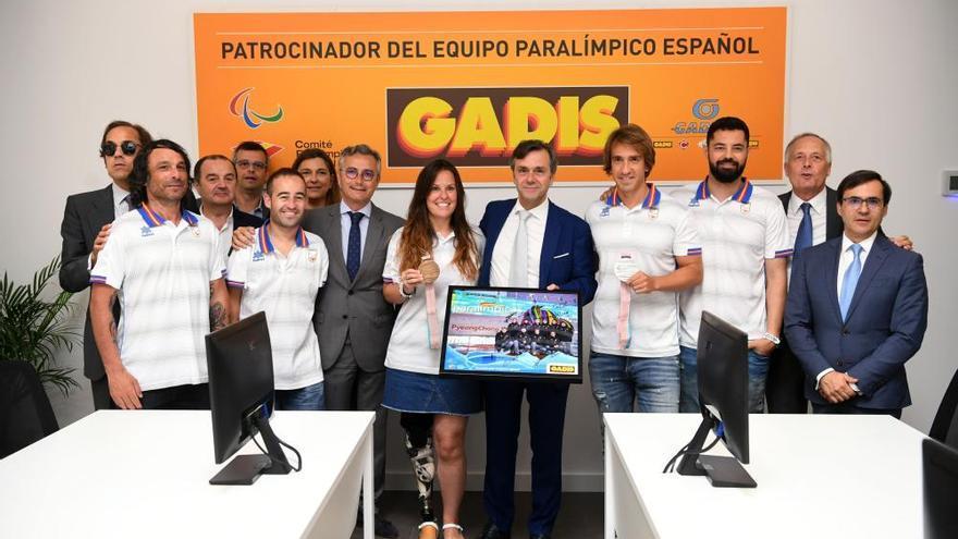 Gadisa recibe a los deportistas paralímpicos españoles que participaron en PyeongChang 2018