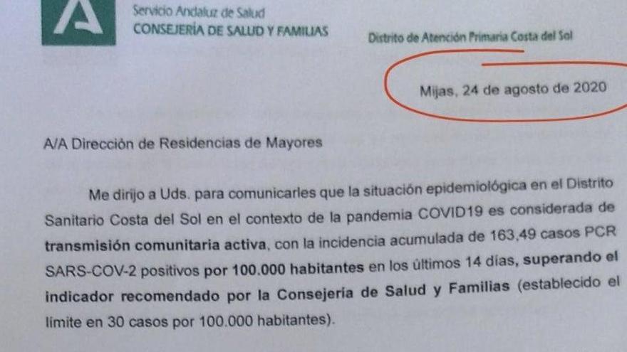 Andalucía ocultó transmisión comunitaria en Málaga