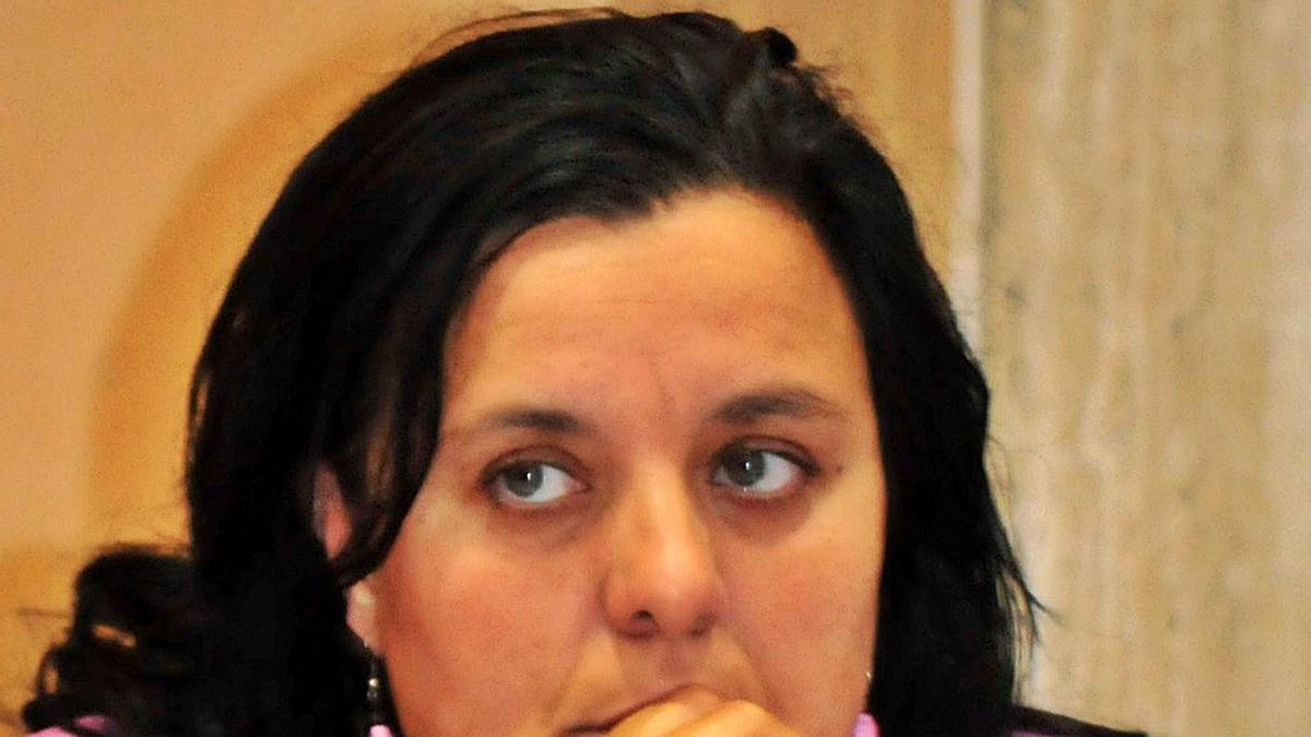 Helena Mariño fue una de las jugadoras históricas del baloncesto arousano en el Cortegada. |  // I. ABELLA