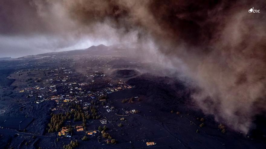 El cono del volcán de La Palma tiene unos 200 metros de altura