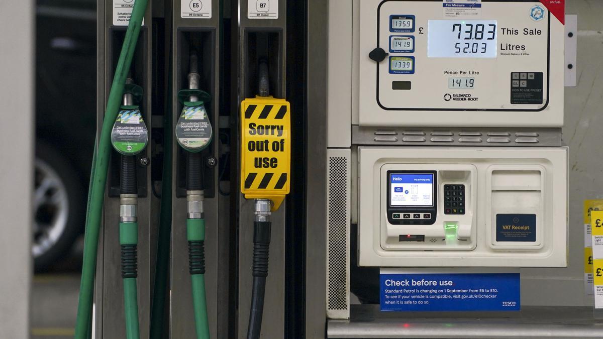 Gasolinera en Reino Unido.