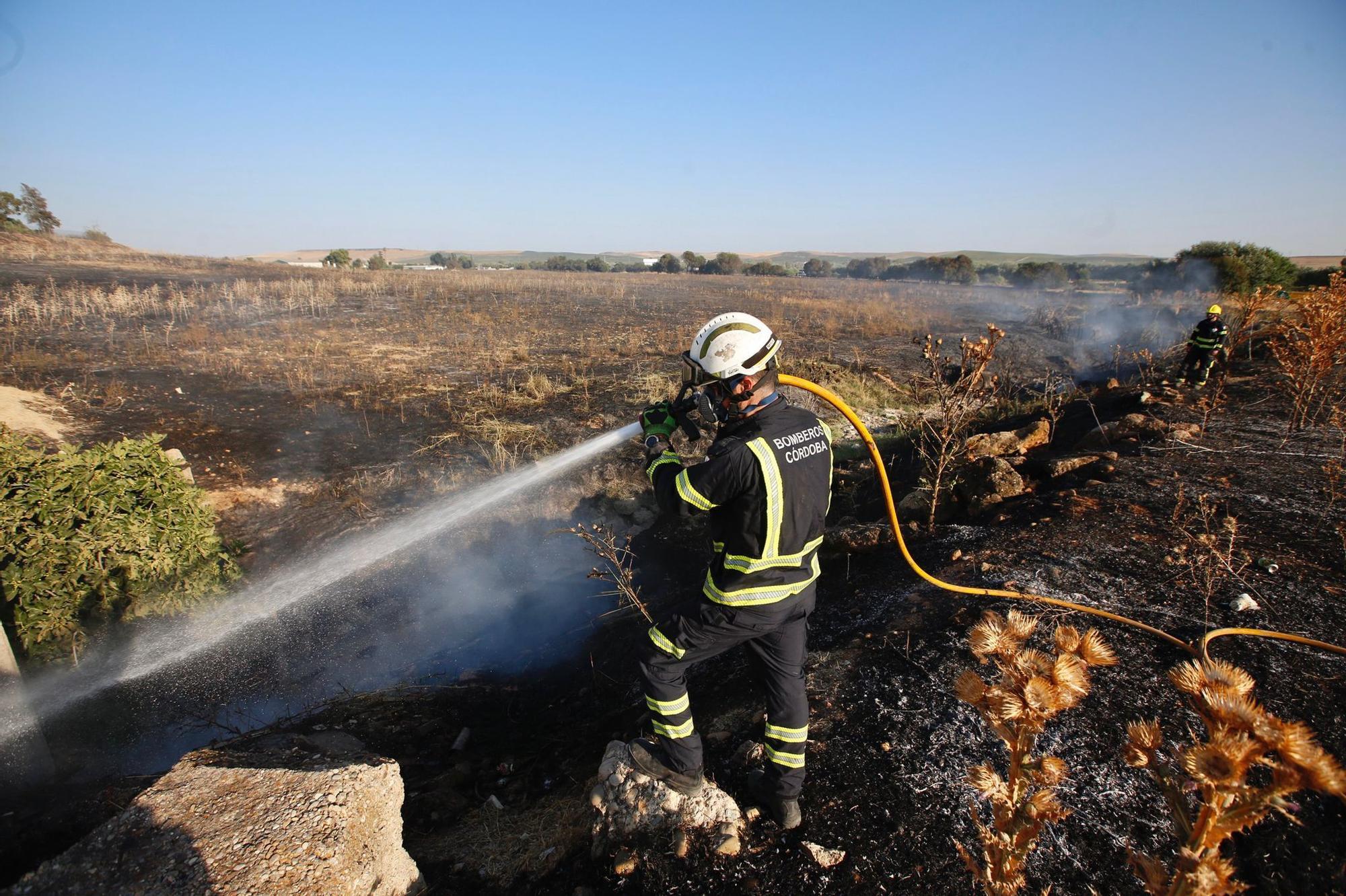 Un incendio en las Quemadas calcina diez hectáreas de pastos