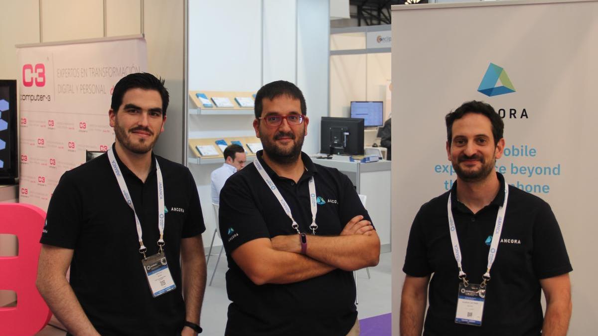 D.Celix, A.Bastos y F.Gil, fundadores de Ancora.