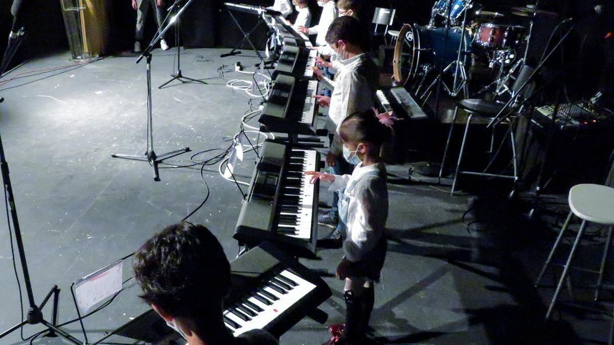 Primera audición con público de la escuela de música de Monesterio desde el inicio del estado de alarma