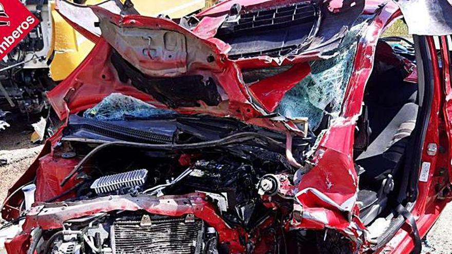 Herida grave en un accidente en Pego