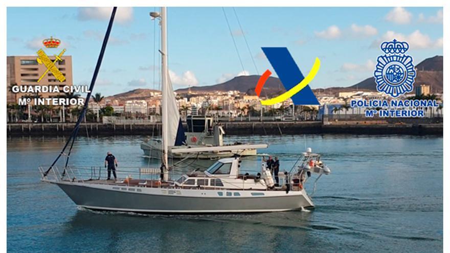 Intervenidos 1.200 kilos de cocaína en un velero frente a las costas de Canarias