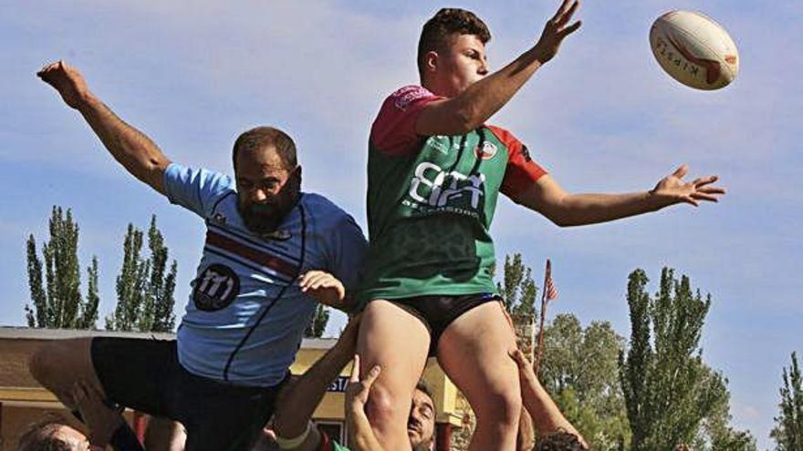 Imagen de un encuentro de la pasada temporada del Zamora Rugby Club.