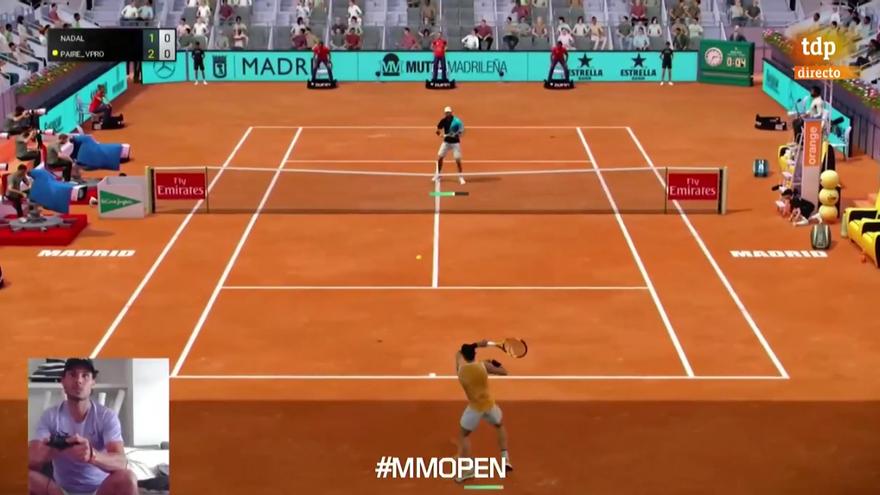 Rafael Nadal pierde ante Murray y Paire en el Madrid Open Virtual