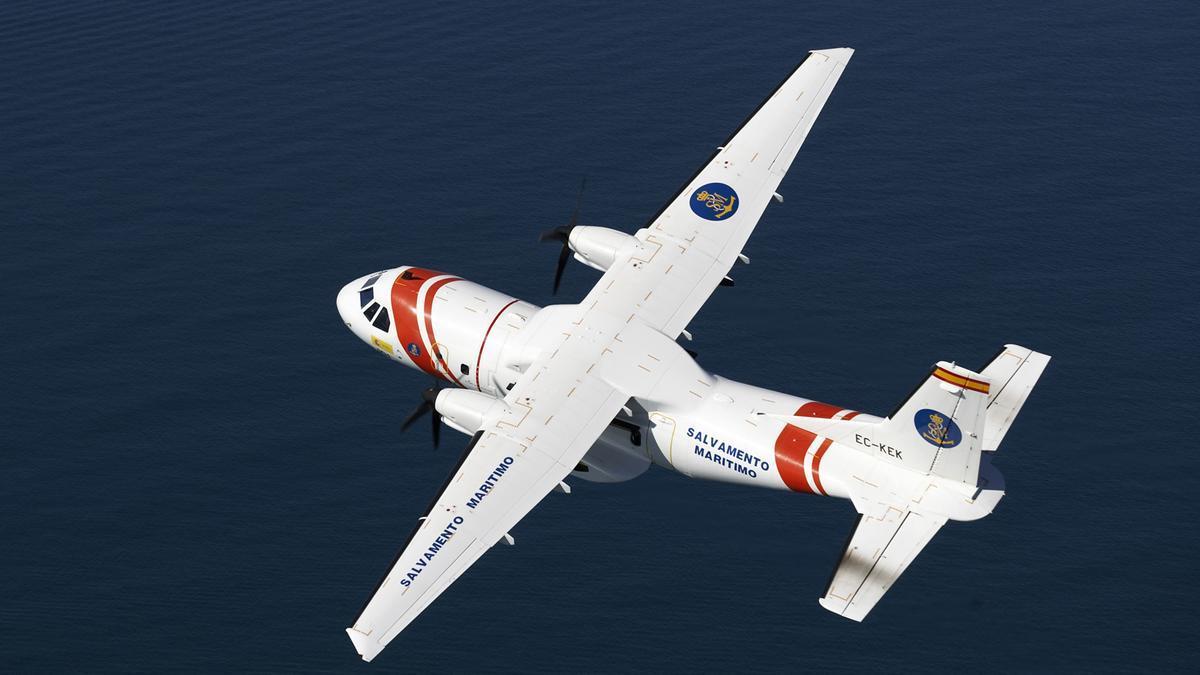 Avión Sasemar de Salvamento Marítimo en una imagen de archivo.