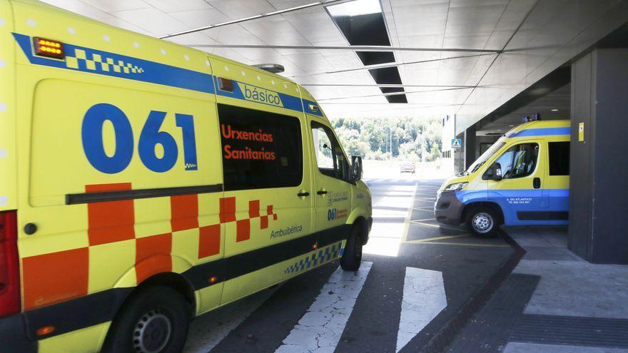 Un ciclista trasladado con diversos traumatismos tras sufrir un accidente contra un coche en O Porriño