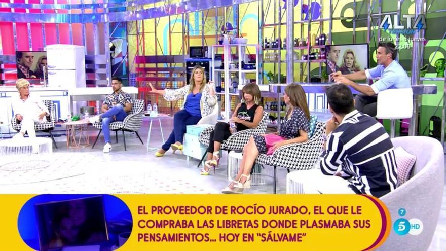 'Sálvame' invita a la persona de que le compraba las libretas a Rocío Jurado