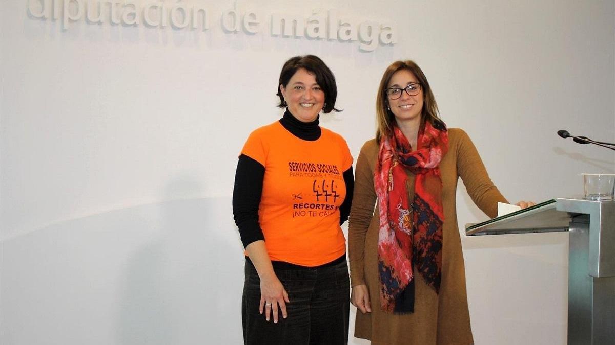 Las diputadas de Adelante Teresa Sánchez y Maribel González, en una imagen de archivo.
